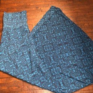 LuLaRoe Blue Maxi Skirt